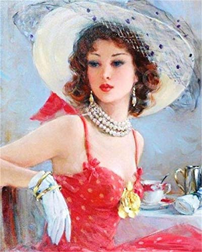 Diamond Painting Kits Woman Diamond Painting Full Kits Adults Kids 5D Diamond Painting Kits Full Drill Diamond Art Cross Stitch Crystal Art Kits Home Wall Decor 30x40cm