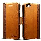 iPhone SE ケース 第2世代 手帳型 iPhone8 ケース Rssviss アイフォン7 ケース iPhone 8 ケース ワイヤレス充電対応 マグネット W3 ブラウン iPhone8、iPhone7対応 4.7inch