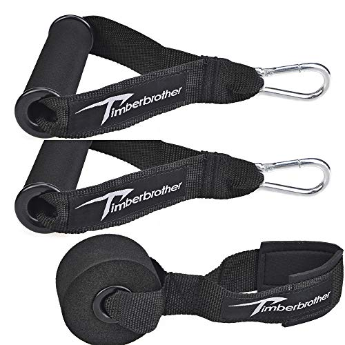 Timberbrother Resistance Bands Handle, Upgraded Grip Wide Design with Solid ABS Cores for Exercise Bands and Door Anchor