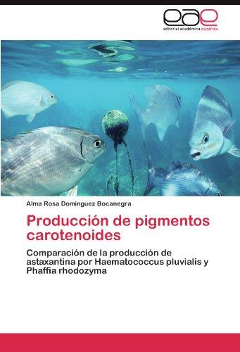 Producción de pigmentos carotenoides: Comparación de la producción de astaxantina por Haematococcus pluvialis y Phaffia rhodozyma