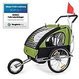 SAMAX Fahrradanhänger Jogger 2in1 Kinderfahrradanhänger