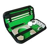 ZJY Juego de Putter de práctica de Golf, Kit de colocación portátil con Orificio de Bola - Durable, fácil de Instalar - Regalo Ejecutivo Ideal - Adecuado para Viajar en Interiores al Aire Libre