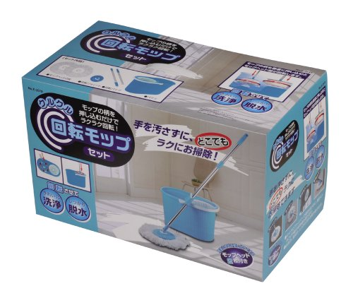ワコートレーディングクルクル回転モップセットE-3519