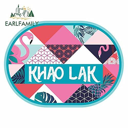 A/X 13 cm x 9,5 cm für Khao Lak Flamingo Tropical wasserdichte Autoaufkleber Cartoon Dekoration Aufkleber Kühlschrank Grafiken