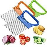 Asistente de rebanada de alimentos, soporte de cebolla, cortador de patatas de verduras de acero inoxidable, herramienta de cocina