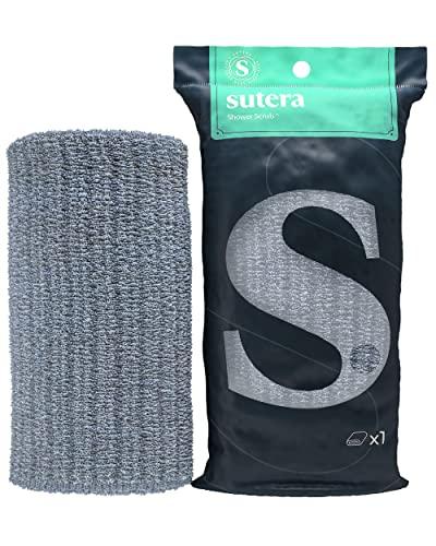 SUTERA Scrub Japanese Exfoliating Towel, Microabrasion Nylon Bath Washcloth, Body exfoliation Bathing Wash Cloth Towel, Korean/Japanese Style Deep Skin Scrubber, Rip/Tear Resistant, Extra Long Towel