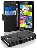 Cadorabo Coque pour Nokia Lumia 1320, Noir DE Jais Fermoire Magnétique Housse de Protection Etui Portefeuille Case Cover pour...