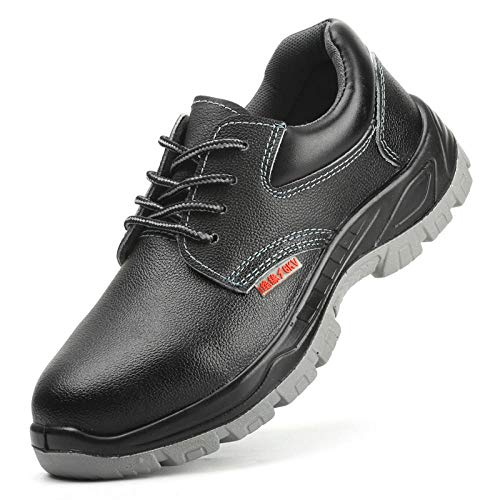 xiaozhu Zapatos Seguridad Hombres,Zapatos Aislamiento Punta Acero Son Transpirables livianos Zapatos Seguro Laboral Hombres Son Zapatos Trabajo Seguros Anti-Rotura Anti-perforación.-Negro_45