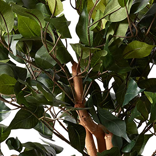 Product Image 7: Nearly Natural 3′ Ficus Silk Artificial Trees, 36in, Green