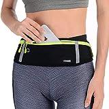 USHAKE Slim Running Belt, Workout Fanny Pack for Men Women,Exercise Waist Pack for Apple iPhone Holder, Runner Belt for Running Walking Cycling Camping Gym