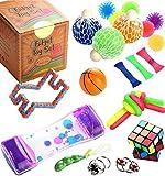 KTYX Fidget Toy Box Set - Mini Pop It 25pcs Juego Antiestres Box - Ansiedad...