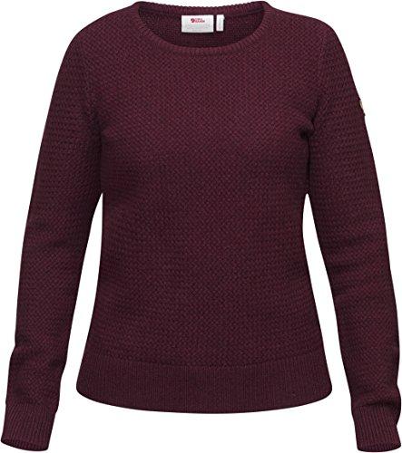 FJÄLLRÄVEN Damen Övik Structure Sweater W Pullover, Dark Garnet, L