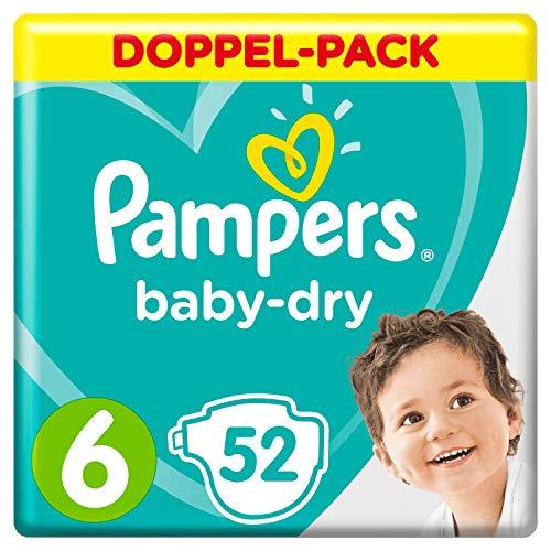 Pampers Baby-Dry Windeln, Gr.6, Für Atmungsaktive Trockenheit, 52Stück