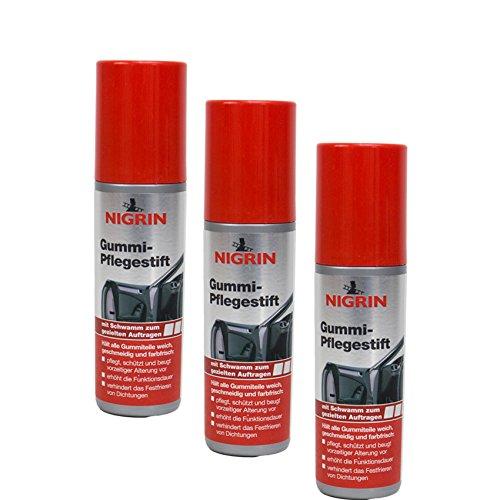 Nigrin 3X 74653 Gummi-Pflegestift 75 ml
