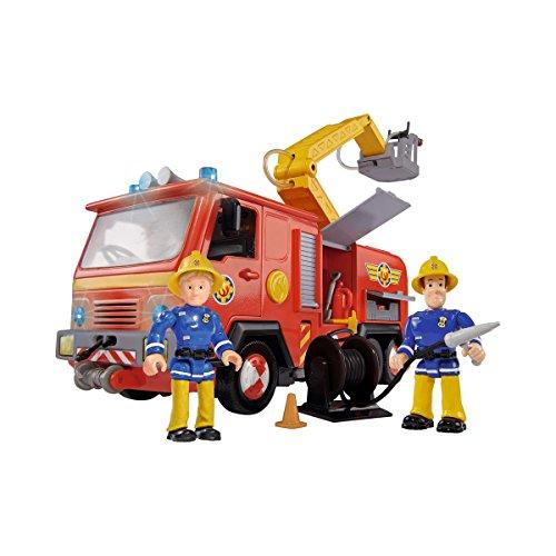 Simba - Set de Juguete con Coche de Bomberos, Figura Sam y Accesorios, Multicolor (109257661)