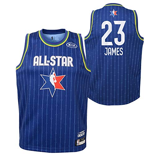 Youth 2020 NBA All-Star Game Lebron James Blue Swingman Jersey Youth Sizes (Youth Large (14/16))