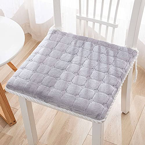 Square Cushion, Soft Comfortable Thick with Ties Non-Slip Home Seat Cushion Chair Cushion for Living Room Kitchen Office-40x40x4cm(16x16x2inch)-P