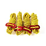 OKESYO 4 cuerdas tensoras reflectantes, cuerda reflectante, cuerda reflectante, cuerda de viento, camping, cuerda luminosa, para tienda de campaña, senderismo (4 mm x 2 m)