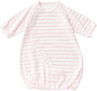 cremé de coco フリンジパイル 低出生体重児 ツーウェイオール [股スナップ付け替え/2way] 新生児 赤ちゃん 日本製 40-50cm