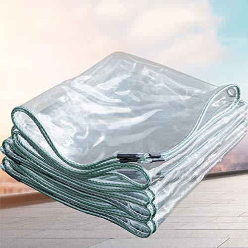 Lonas Transparente,Invernadero a Prueba de Lluvia Toldos de Plantas Tela Cubiertas Plástico Exterior Jardín Toldo Aislamiento Térmico A Prueba de Polvo 420 G/M², 0.4 mm(1.8x2m/5.9x6.6ft)