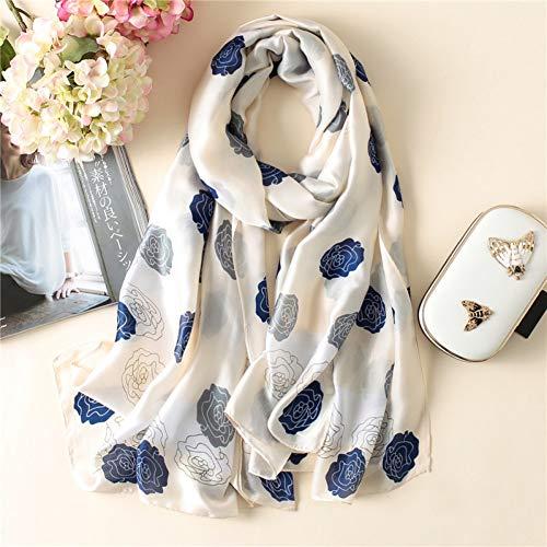 MYTJG Lady sjaal herfst en winter sjaal dames sjaal mode dames zijdesjaal bedrukken zachte sjaal dames lange hoofddoek