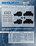 MERCRUISER COMPLETE EXHAUST MANIFOLD SET GM 4.3L V6 (CAST IRON) | GLM Part Number: 58222