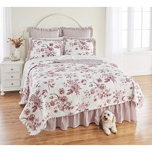 BrylaneHome Frances 6-Pc. Quilt Set - King, Red White