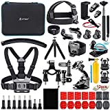 Artman Action Camera Accessories Kit 58-in-1 Compatible with GoPro Hero 9/8 Black, Max, Hero 7 6 5 4 3 2 1 Black Silver SJ4000/ SJ5000/ SJ6000 DJI OSMO Action DBPOWER AKASO Xiaomi Yi APEMAN