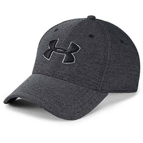 Under Armour Men's Heathered Blitzing 3.0 Gorra, Hombre, Negro (001), L