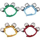 Handgelenk Glocken, Homgaty Armbänder mit Strong Straps, Einstellbare Armband Handgelenk Tamburine für Kinder Spielzeug,...