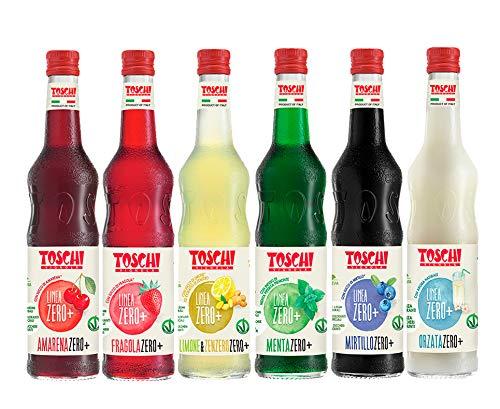 Drink Zero + 560 ml, Sciroppo senza Zucchero nei gusti: Amarena, Menta, Limone&Zenzero, Fragola, Mirtillo ed Orzata.