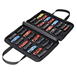 Pocket Knife Storage Case, Small Knife Display Roll Bag, Folding Knife Holder Protectors For Carrying Pocket Knife, Tactical, Outdoor, EDC Mini Knife, Large Capacity 32 Slots
