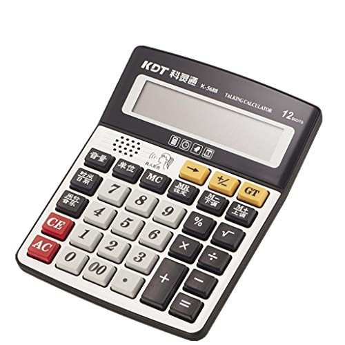 ZJ Genau Calculator 165 * 211mm Sprachcomputer Big Button Stimme Financial Accounting Office-Spezialrechner Bequemlichkeit