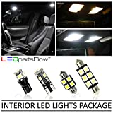LEDpartsNow Interior LED Lights Replacement for 2003-2007 Infiniti G35 Coupe Accessories Package Kit (7 Bulbs), WHITE