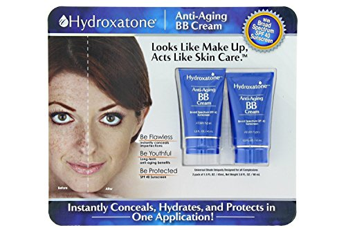 Hydroxatone Anti-Aging BB (Beauty Balm) Cream, Universal Shade for ALL Skin Types, SPF 40 (BONUS...