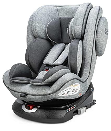 Osann 108-238-279 ENO360° Kinderautositz Gruppe 0+/1/2/3 (0-36 Kg) Light Grey Melange