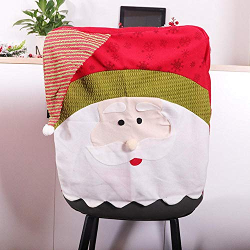 LLAAIT Christmas Seat Cover Santa Snowman Elk Deer Chair Cover Christmas Dinner Table Decoration New Year Ornaments Household Xmas Gift