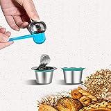 Landia 2 unids/caja de recambio Nespresso cápsulas de café de acero inoxidable recargable Nespress cápsula de café reutilizable italiano filtros taza