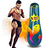 AuGcGoGo 65' Inflatable Punching Bag- Standing Boxing Bag for Adults and Kids,Free Standing Boxing Toy for Kids…