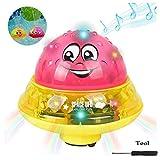 Queta Spray Wasser Baby Badespielzeug, Babyspielzeug, Badespielzeug, Schwimmende Badespielzeug, Wasserbad Spielzeug für Babys Kleinkinder Kinder-Party (Rot)