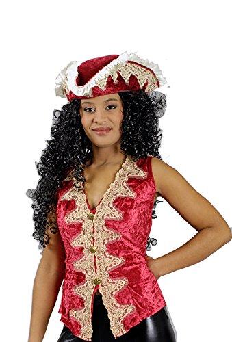 K35292672-44-46 rot Damen Weste Piratenweste Mittelalter Gr.44-46