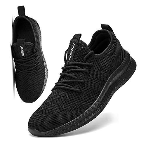 [KULIXIE] スニーカー メンズ ウォーキングシューズ ジョギングシューズ カジュアルシューズ スポーツシューズ トレーニング ランニング シューズ 運動靴 ジム バスケットボール 軽量 おしゃれ 黒 25.5cm
