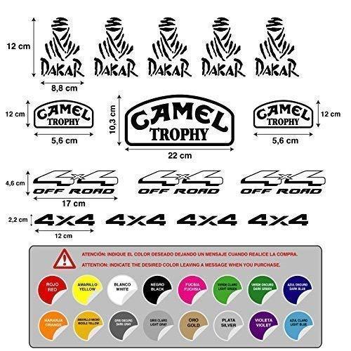 Aufkleber Aufkleber Aufkleber Aufkleber Aufkleber Autocollants Dakar Camel Trophy 4X4 aus Road Vinyl 5 A 7 Años 15 Einheiten REF1