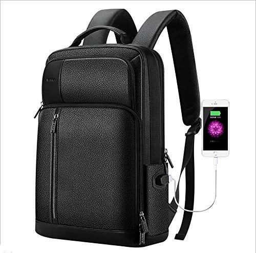 SHENAISHIREN Zaino Uomo Donna-per Computer Portatile con Porta USB - Zaino in Pelle Pieno Fiore Ideale for Ufficio, Lavoro e Scuola Business Laptop Backpack