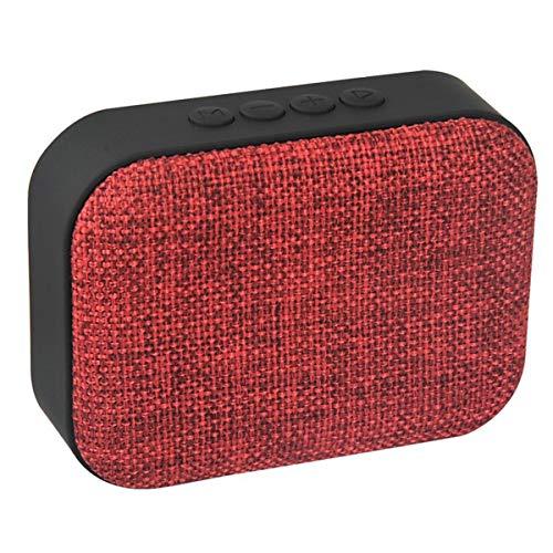 HaiQianXin Tragbare Leinwand Stoff Kunst Mini Bluetooth Wireless Lautsprecher Lautsprecher FM Radio Unterstützung TF U-Scheibe (Color : Red)