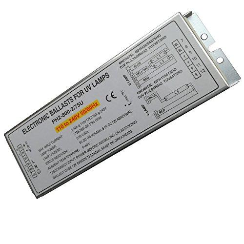 Balastos electrónicos de lámpara germicida de 150 W para lámpara UV GHO36T5L GPH436/846T5HO TUV PL-L35/60WHO TUV36T5HO, PH2-800-2/75U, paquete de 2 unidades