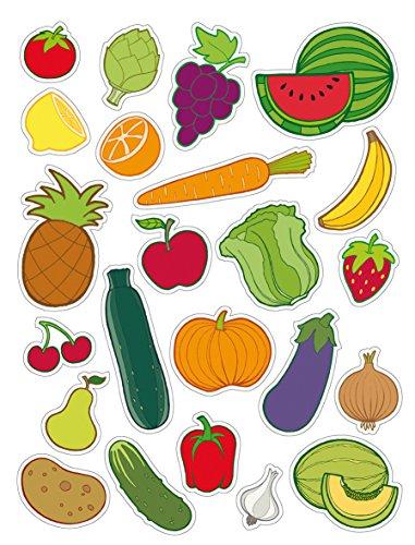 APLI, adesivi frutta e verdura 3 hojas