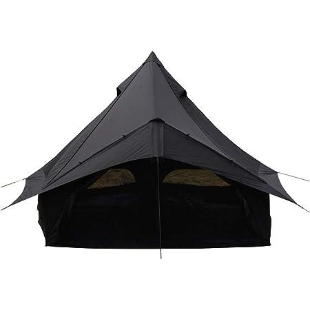 カナディアンイースト(Canadian East) アウトドア キャンプ テント ワンポールテント グロッケ12 【5~6人用】 ブラック CETO1004