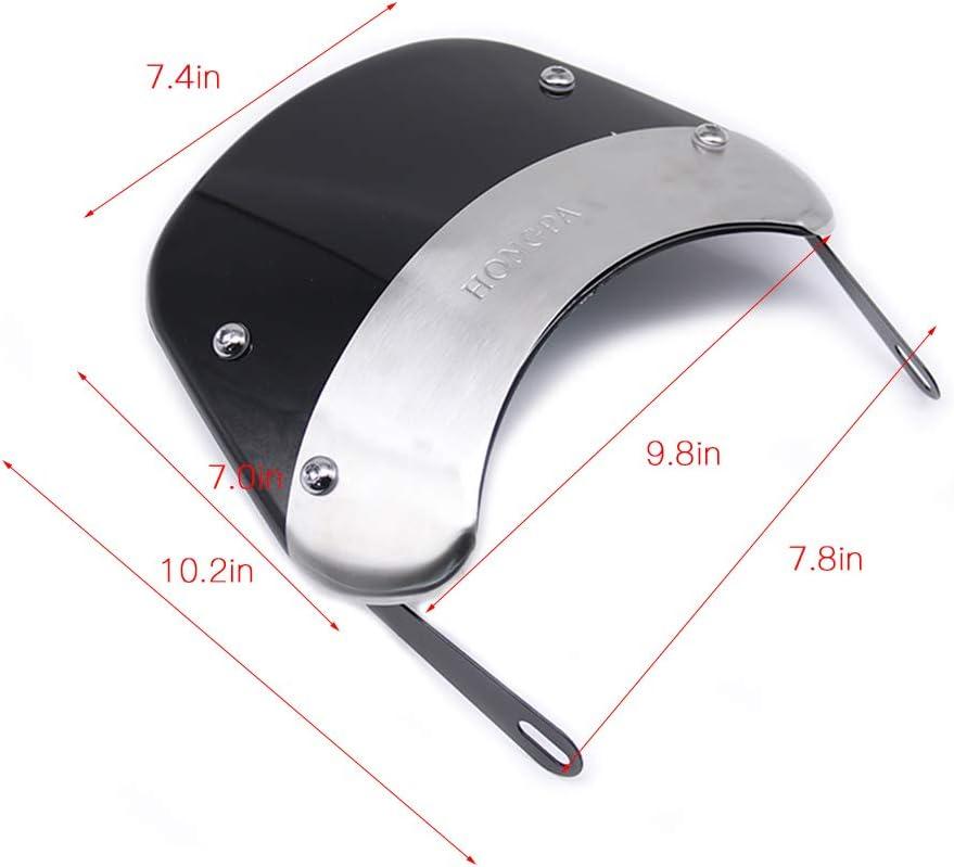 HONGPA 5-7 inch Windscreen for Motorcycle Lights and Harley Davidson Headlights