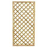 PiuShopping - Panel de rejilla de madera para jardín, balcón o terraza, para amplificadores, alta valla, rectangular, 90 x 180 cm
